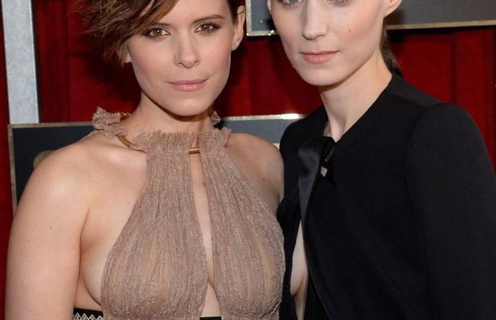 Kate and Rooney Mara Showing Their Perky Breasts on the Red Carpet