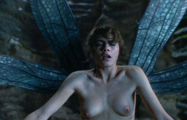 British Beauty Cara Delevingne Shows Her Natural Boobs on Camera