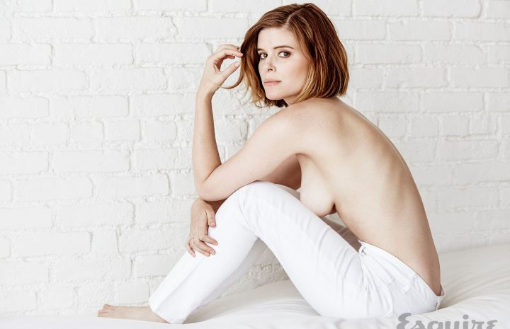 Short-Haired Actress Kate Mara Going Topless in Esquire (5 Photos)