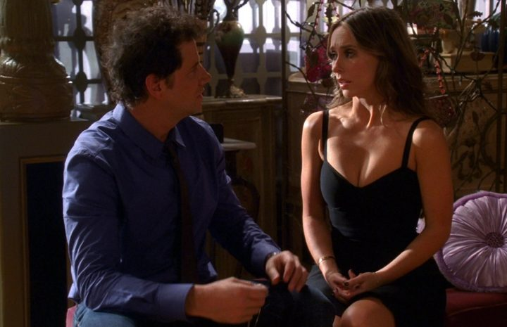 Brunette Jennifer Love Hewitt Shows Her Cleavage in a Sexy Dress