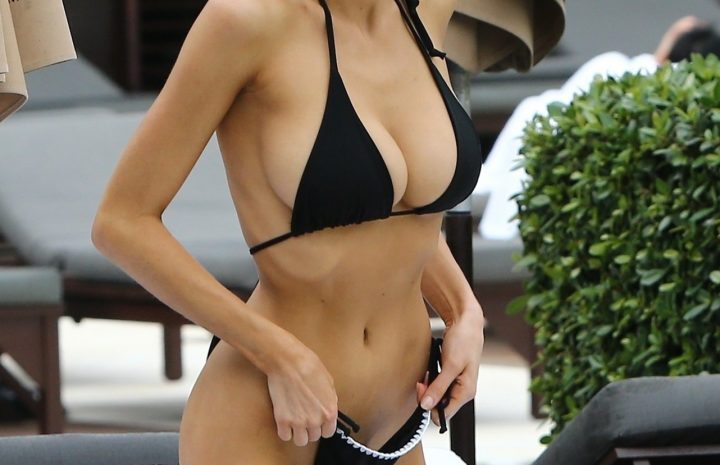 Smoldering Blonde Charlotte Mckinney Showing Her Sexy Body in a Bikini