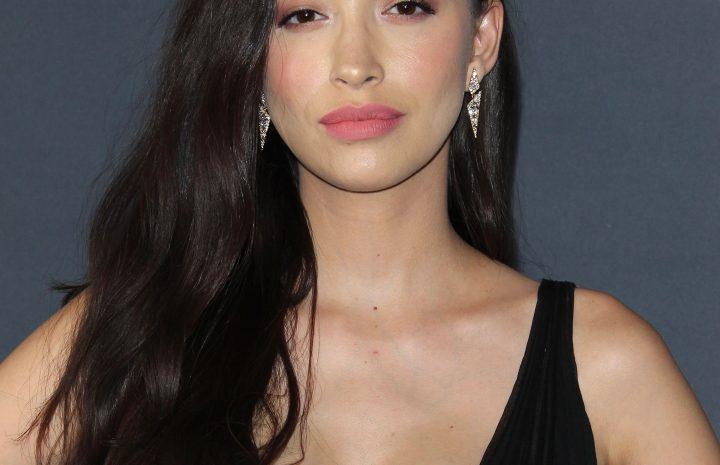 Busty Christian Serratos Proudly Showing Her Tits at an Award Show