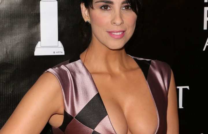 MILFy Brunette Sarah Silverman Showcasing Her Boobs in Public