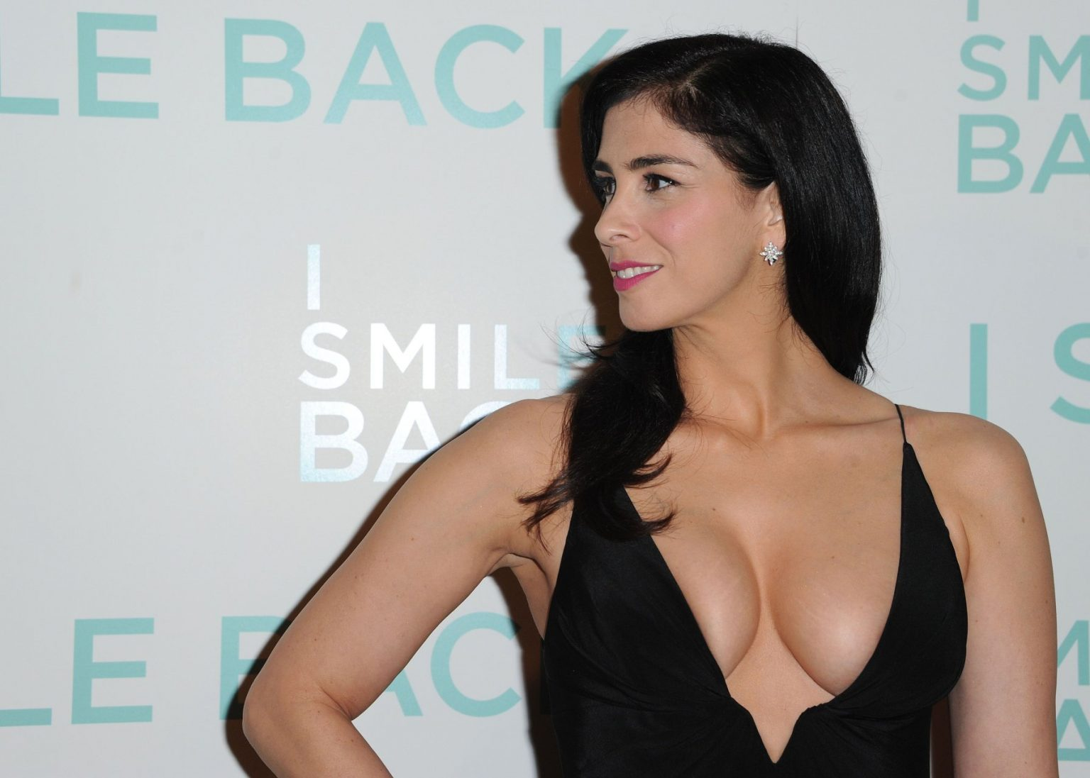 Seductive Sarah Silverman Proudly Shows Her Boobs in a Revealing Dress | #TheFappening Girls