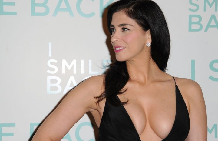 Seductive Sarah Silverman Proudly Shows Her Boobs in a Revealing Dress