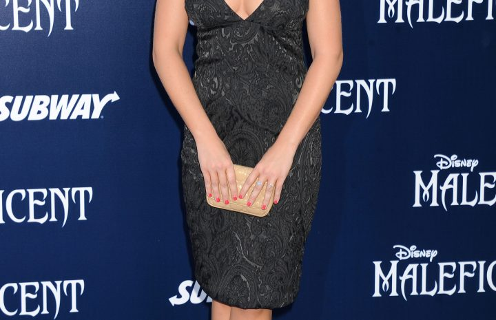 Emily Osment Looks Awesome in a Fairly Modest Dress (4 Photos)