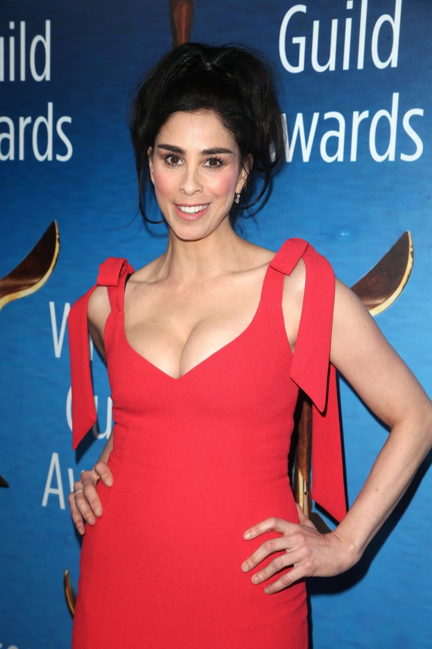 Busty Brunette Sarah Silverman Showing Her Main Assets in