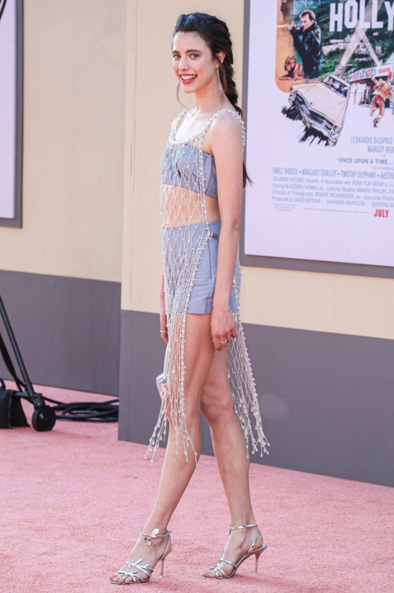Young Vixen Margaret Qualley Showing Her Long Legs on the