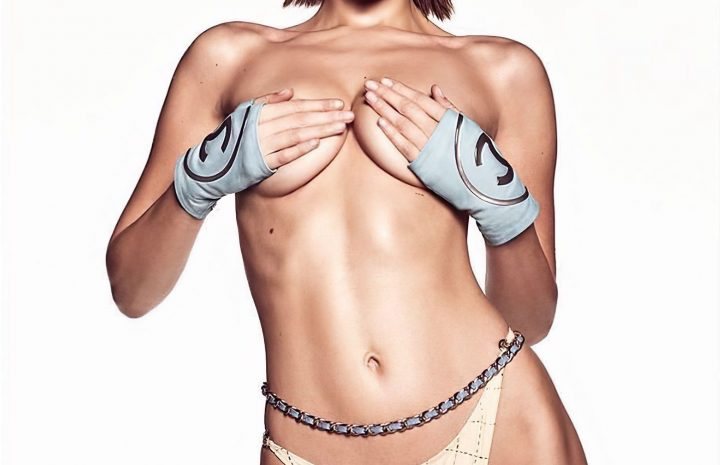 Sporty Model Bella Hadid Goes Topless for CHAOS SixtyNine Magazine