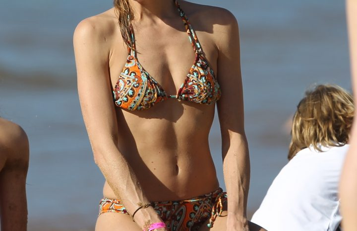 Cheery Blonde Brooke Burns Showing Her Perfect Bikini Body