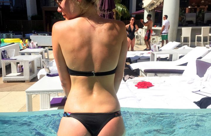 Blond-Haired Beauty Katrina Bowden Flaunts Her Booty for the Camera