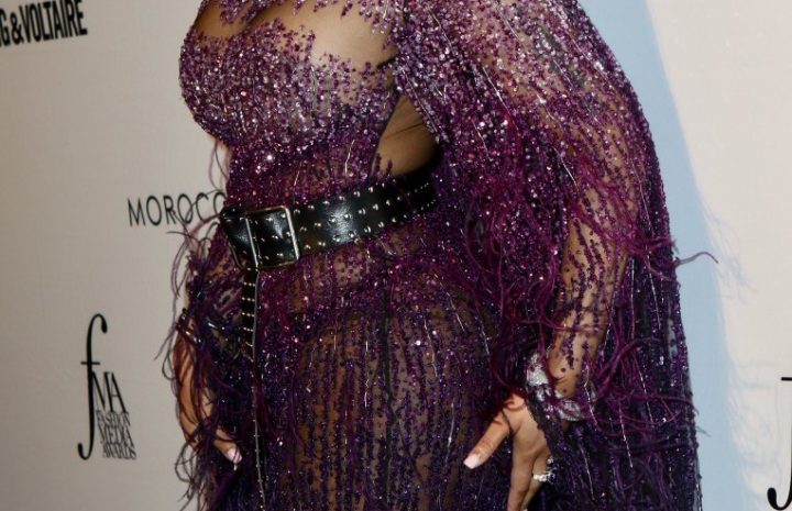 Nicki Minaj Dons an Eye-Catching and Mostly See-Through Outfit