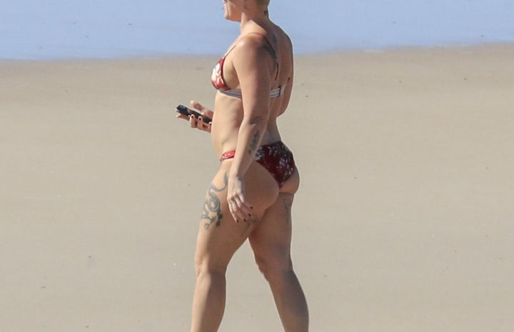 Pink Showing Her Jacked Body in a Revealing Bikini (17 Photos)