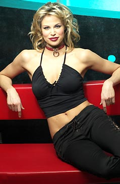Blonde Brooke Burns Showing Her Toned Abs in a Sexy Outfit