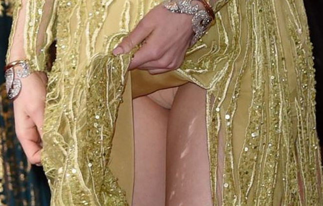 Gorgeous Actress Emma Stone Flashing Her Panties at the Oscars