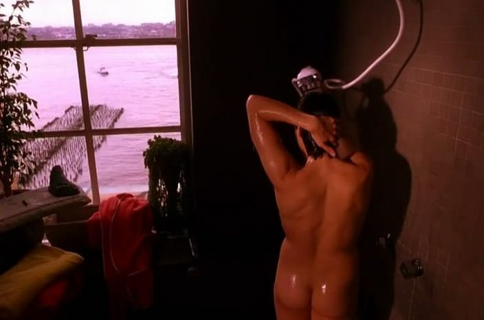 Wet Neve Campbell Showing Her Ridiculously Shapely Booty