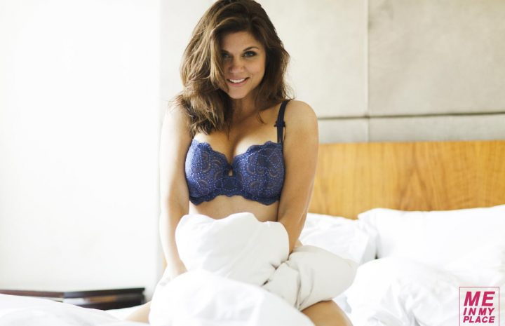 Tiffani Amber Thiessen Looks All Playful While Posing in Lingerie