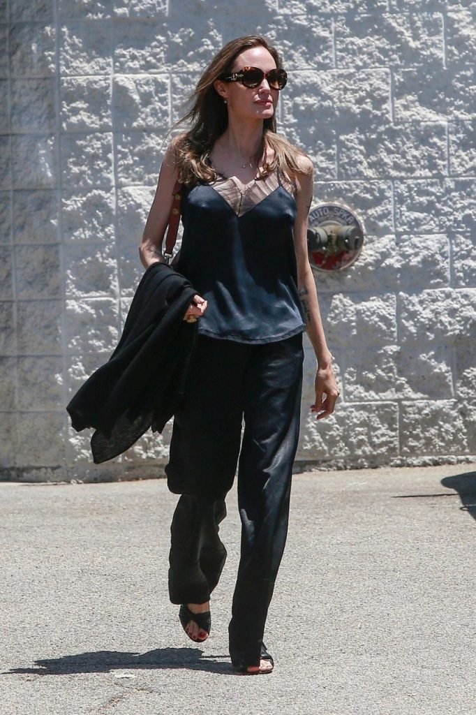 Angelina Jolie Looks Hot AF with Her Pointy Nipples on
