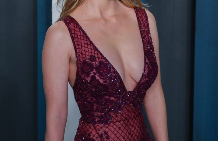 Busty Blonde Betty Gilpin Displaying Her World-Famous Cleavage