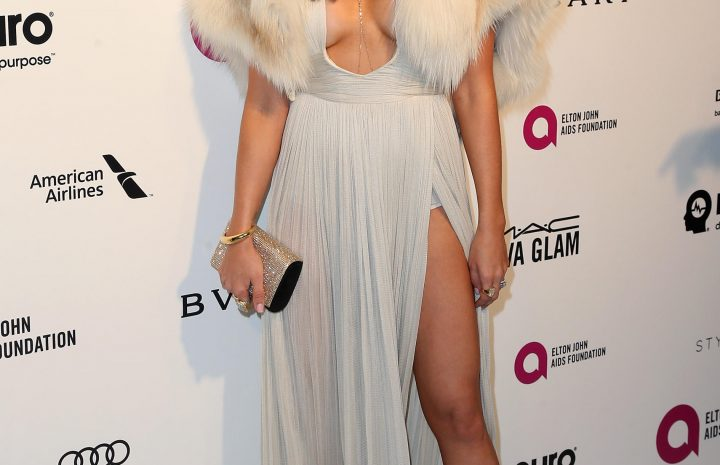 Ashley Tisdale's Slutty Dress Emphases Her Tits and Legs