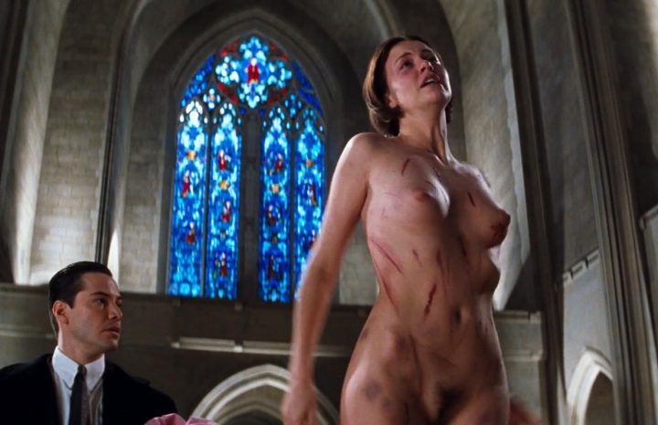 Disfigured Charlize Theron Happily Showing Her Bush at a Church