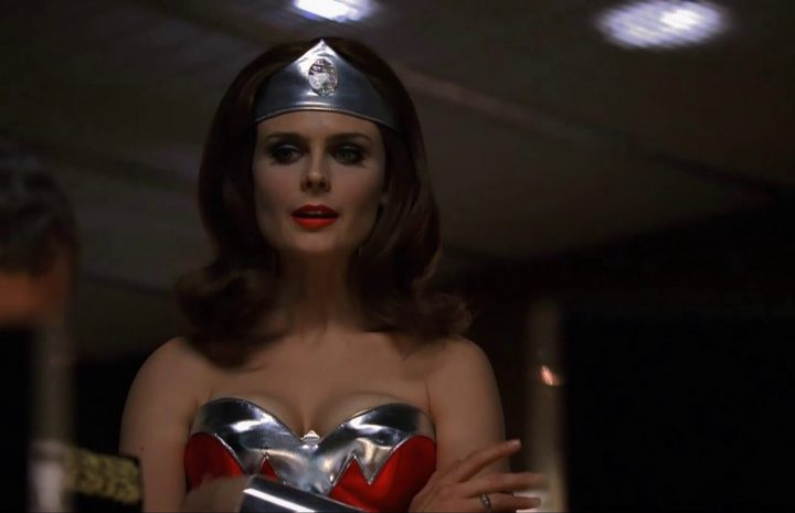 Emily Deschanel Cosplaying Wonder Woman and Looking Extremely Hot