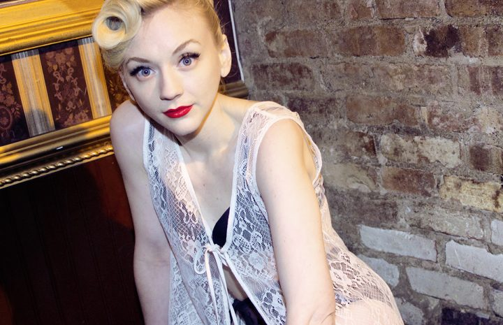 Adorable Blonde Emily Kinney Showing Her Long Legs and More