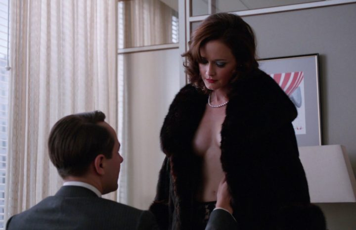 Sexy Alexis Bledel Screencaps from Mad Men (Cleavage, Topless, Etc.)