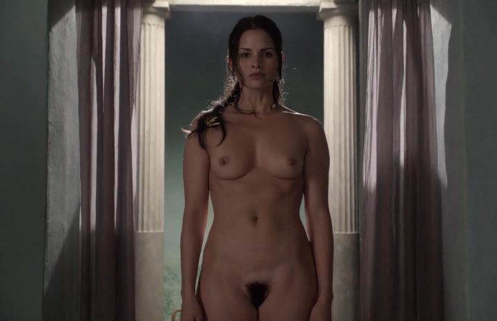 Nude Katrina Law Showing Her Beautiful Bush in a Vaguely Lesbian Scene