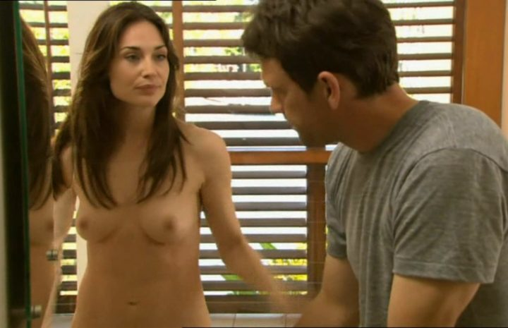 Claire Forlani Showering and Showing Off Her Extra-Fit Bikini Body