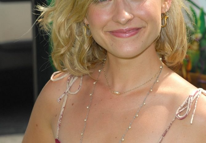 Allison Mack Cracks a Smile While Showcasing Her Boobies Outdoors