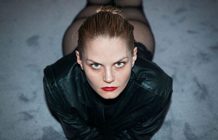 Jennifer Morrison Teasing with Her Sexy Legs in Sexy Fishnets
