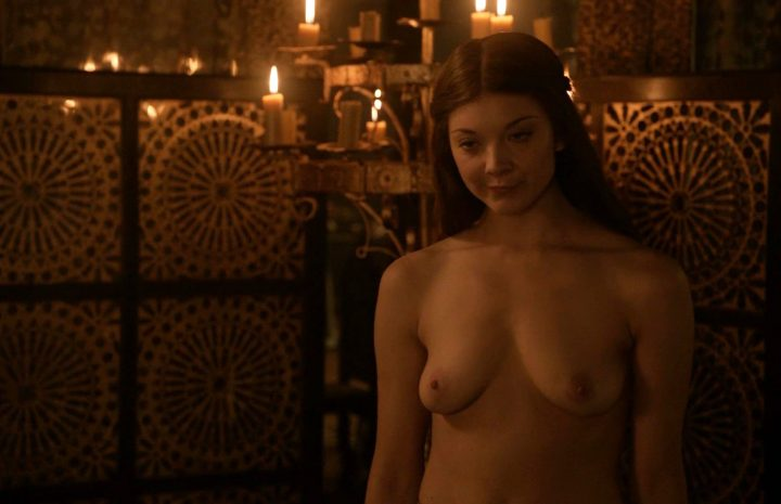 Stunning Actress Natalie Dormer Happily Showing Her Natural Boobs