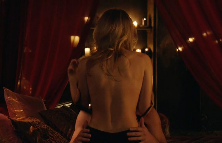 Eager Blonde Emily Bett Rickards Gets Dirty in a Scene from Arrow