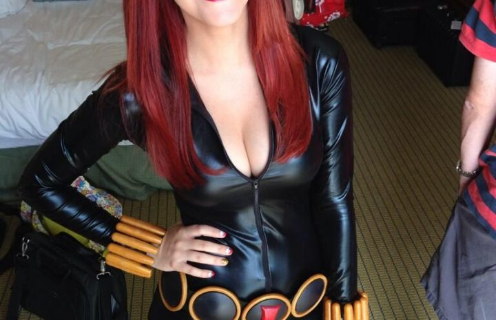 Cosplayer Meg Turney Shows Her Bobos and Ass in a Skintight Catsuit