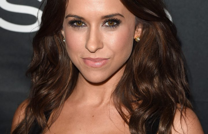 Lacey Chabert Cleavage Pictures – Hot Brunette Smirking in a Sexy Dress