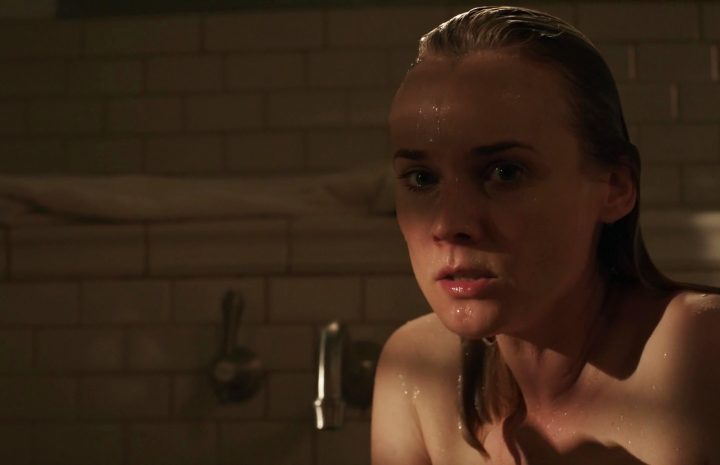 Blond-Haired Stunner Diane Kruger Showing Her Wet Booty in the Bathroom