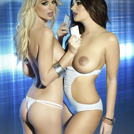 Badass Beauty Holly Peers Presses Her Tits Against Some Other Lady's Tits