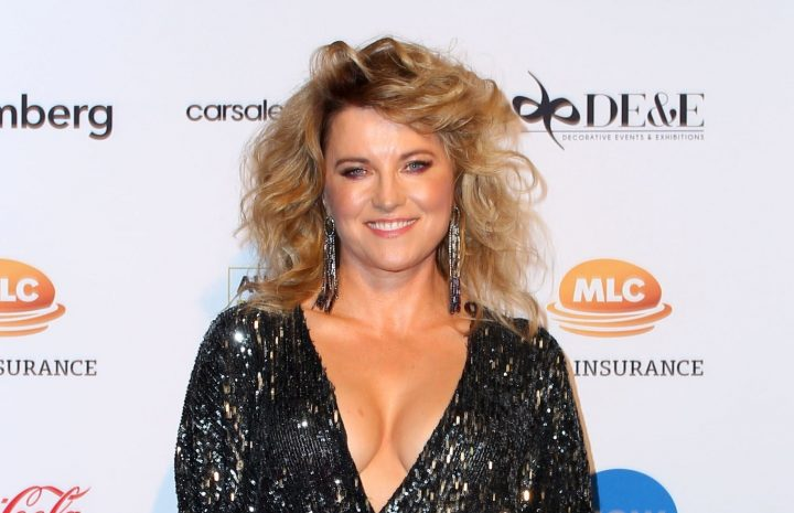 Legendary MILF Lucy Lawless Shows Her Cleavage at a Premiere (or Something)