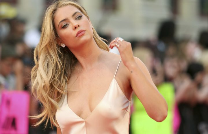 Ashley Benson Displaying Her Enviable Cleavage at a Red-Carpet Event