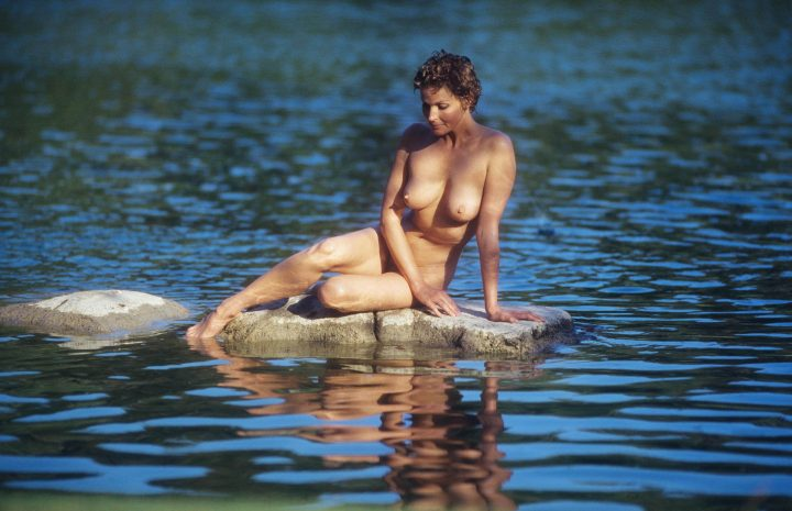Big-Breasted Blonde Bo Derek Showing Off Her Nude Body in Nature