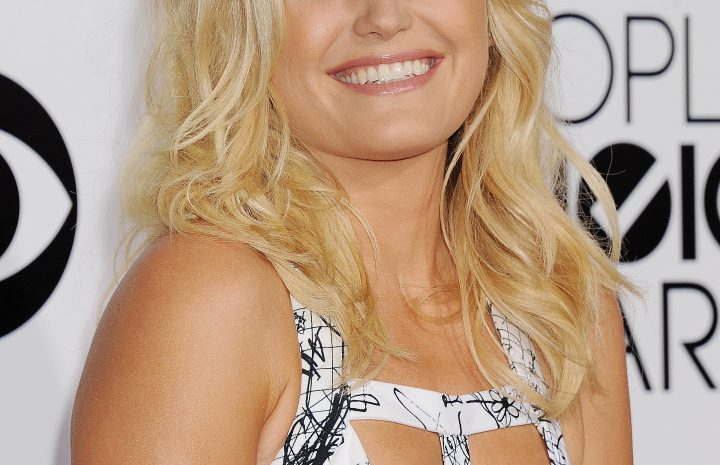 Adorable Blonde Malin Akerman Flashing Her Cleavage at a Red Carpet Event