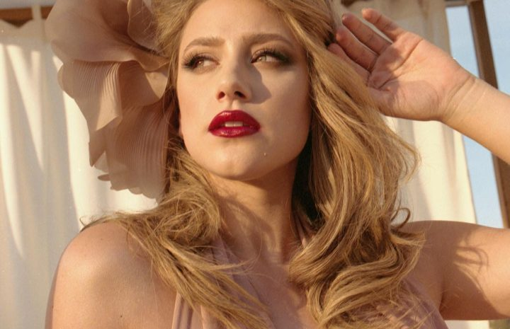 Sexy Lili Reinhart Pictures: B&W Glam Shots with Cleavage Teasing, Stockings, and More
