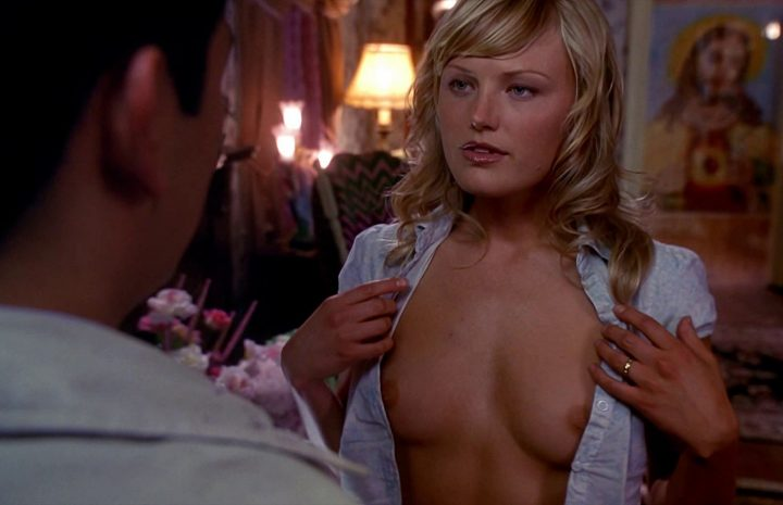 Blond-Haired Actress Malin Akerman Quickly Flashing Her Sexy Boobs in HQ