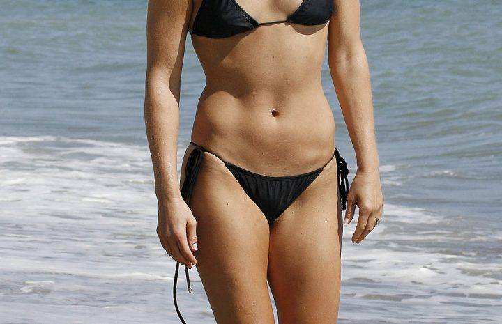 Bikini-Wearing Ali Larter Shows Her Fit Physique on the Beach