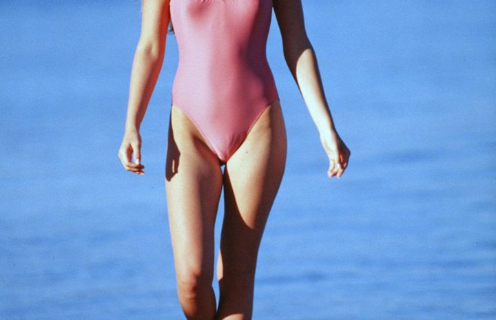 Younger Ali Larter Displaying Her Flawless Physique in a Pink Swimsuit