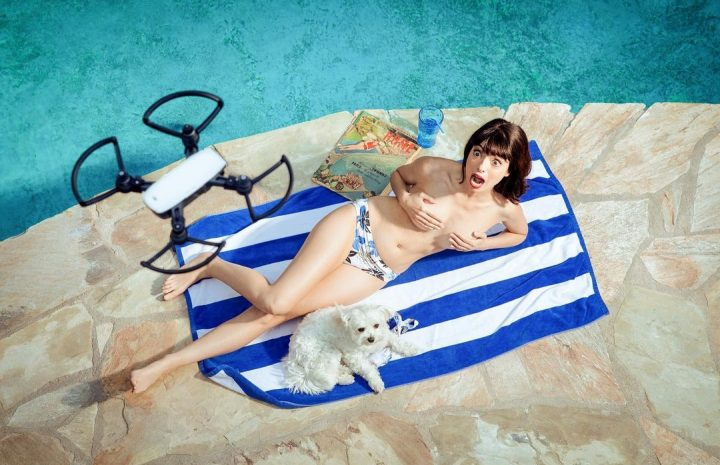 Cute Brunette Kate Micucci Posing Topless in a Hilarious Photoshoot