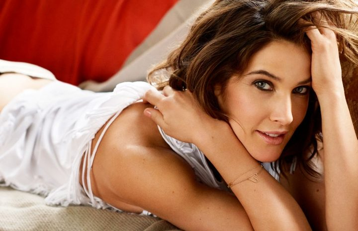Cobie Smulders Posing Topless but Hiding Her Delicious Naked Breasts