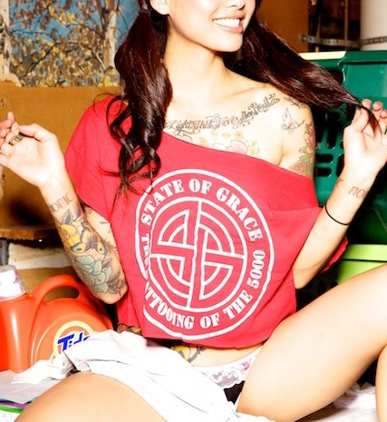 Sexy Levy Tran Flashes Her Ass While Sitting atop a Washer in Tiny Panties
