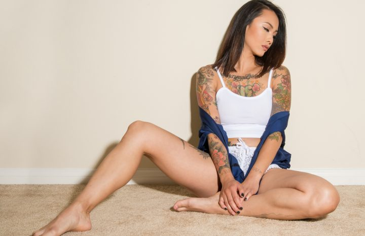 Inked Seductress Levy Tran Goes Topless without Really Showing Anything